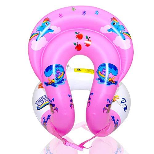Schwimmwesten Schwimmhilfe - Schwimmweste zum Aufblasen für Kinder und Erwachsene | Schwimmtrainer, aufblasbar | 3 Größen? PVC Schwimmhilfen für Beach (Pink,S)