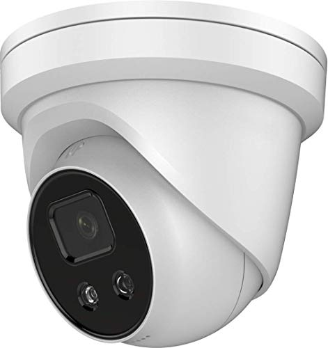 4MP ColorVu PoE IP Camera - Compatible with Hikvision DS-2CD2347G1-LU 24/7 Full Time Color Night View H.265+ Indoor and Outdoor Turret Network Security Camera 4mm