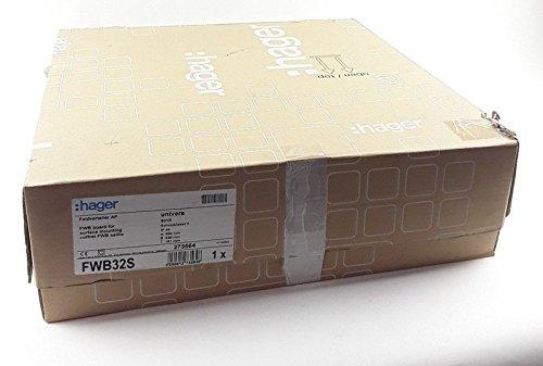 Hager FWB32S Freistehendes Gestell Weiß Rack - Racks (Freistehendes Gestell, Weiß, IP44, Stahl, 550 mm, 161 mm)