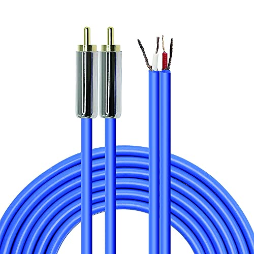 MEIRIYFA Speaker Cable to RCA Plug, 2RCA Speaker Wire Bare Wire OFC Audio...