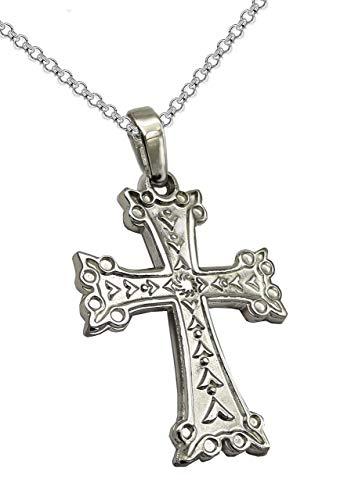 Colgante de plata con cruz - Collar para mujer de plata - Regalo para