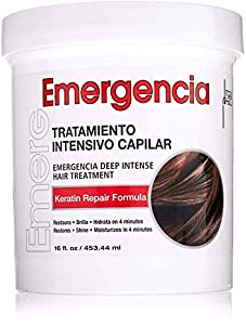 Toque Magico Emergencia 16OZ/453ML - tratamiento intensivo para el cabello, mascarilla keratina para cabello seco, teñido, con permanente, decolorado, rizado y dañado por el calor