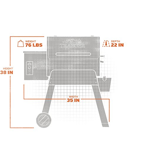 Traeger Grills 10526 Bronson 20 Pellet Grill, One Size