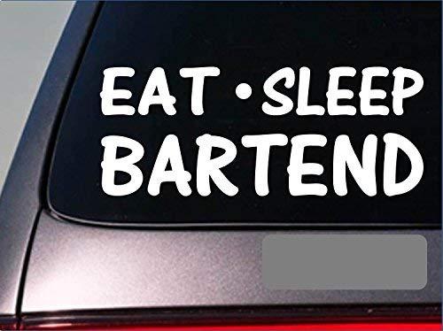 Tollyee auto stickers en stickers eten slaap bartend sticker *G785* 8