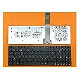 IFINGER Teclado ASUS K55VM K55VS (SIN Marco) EN ESPAÑOL Negro SP Keyboard Black