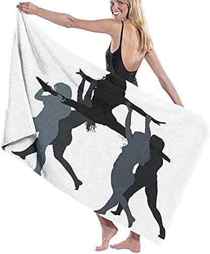 LUYIQ Toalla de Playa Grandes de Antiarena de Microfibra para Hombre Mujer, Chica de Baile de Moda -150x70cm, Toallas Baño Secado Rapido para Piscina, Manta Playa, Toalla Yoga Deporte Gimnasio