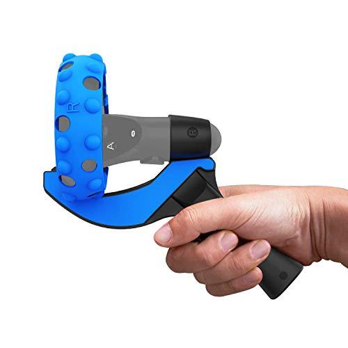 AMVR Tischtennis-Paddelgriff, linker und rechter Griff Silikonschutzabdeckungsringe für Oculus Quest 1 - oder Rift S-Touch-Controller, die elf Tischtennis-VR-Spiele Spielen (Nicht passen Quest 2)
