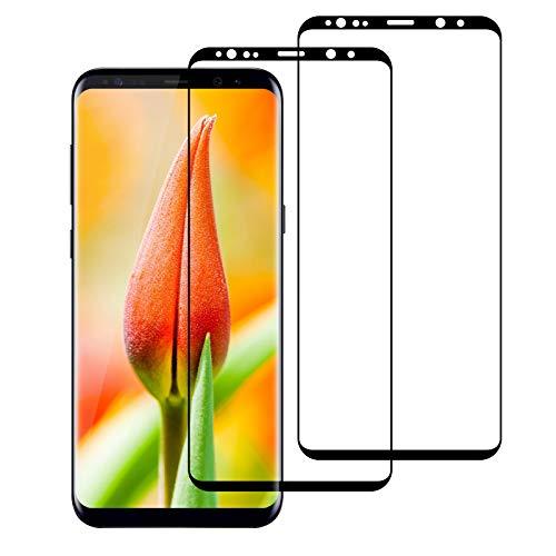 2 Unidades Protector de Pantalla para Samsung Galaxy S9 Cristal Templado, [Cobertura Completa][9H Dureza][Resistente a Arañazos][Ultra Transparente] Vidrio Templado Screen Protector Pantalla