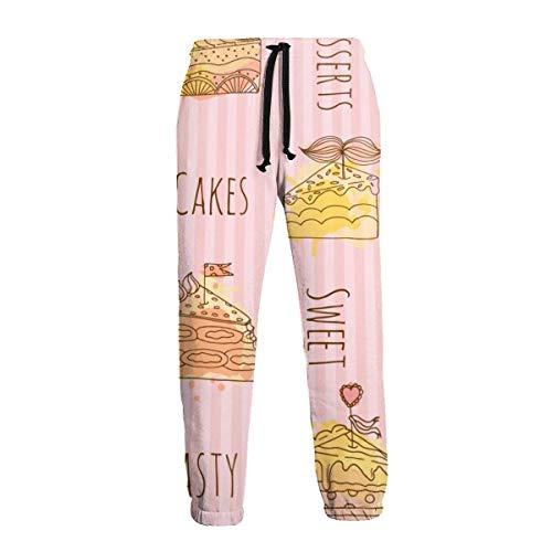 Amanda Horatio Smile Sweet Cute Fruit Food - Pantalones deportivos para hombre, talla grande y alta, para entrenamiento