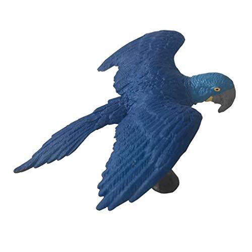 Homyl Figurine Statue Modèle Animaux Artificielle Miniature Animal Jardin Pelouse Décor - Ara Bleu