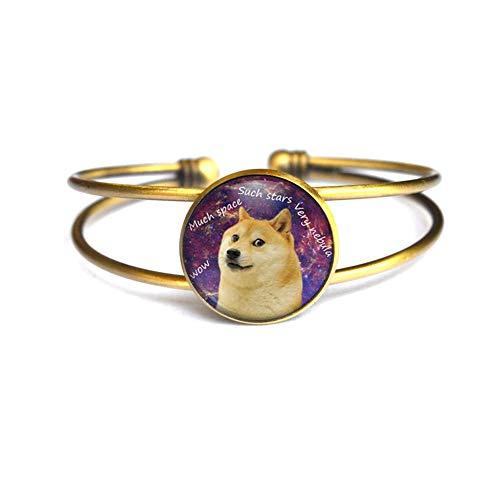 Pulsera Doge Space Jewelry, brazalete minimalista, delicado, brazalete simple, brazalete Doge hecho a mano, regalo Doge, N378