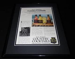 1992 Jack Daniel's Country Cocktails 11x14 Framed ORIGINAL Advertisement Daniels