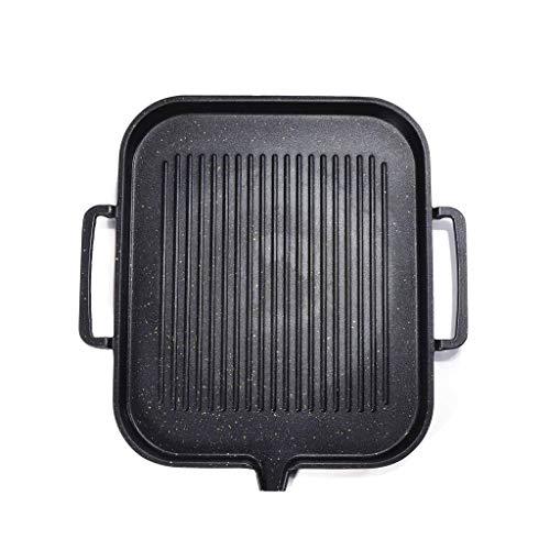 SPNEC De Aluminio sartén, asado Parrilla Pan Placa Revestimiento Antiadherente Utensilios de Cocina de inducción Cocina Compatible cocinar Barbacoa Pan