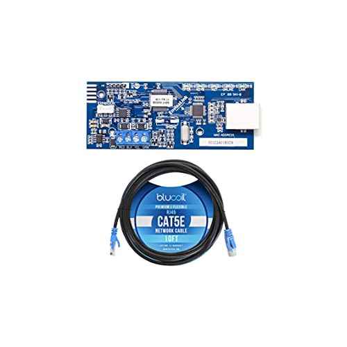 Eyez-On EnvisaLink EVL4-EZR IP Interface Module for DSC and Honeywell (Ademco) Security Systems Bundle with Blucoil 10-FT 1 Gbps Cat5e Cable, Compatible with Alexa