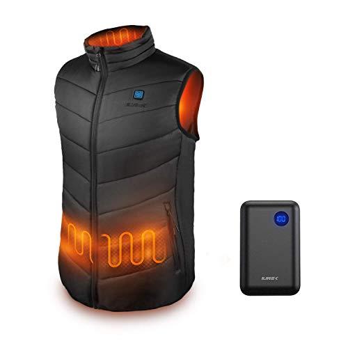 IUREK Men's Lightweight Heated Vest with 7.4V 10000mAh Battery Pack