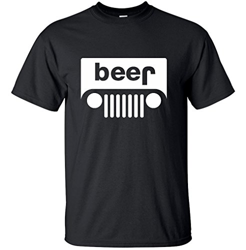 Adult Jeep Beer Funny Novelty Unisex T-Shirt (Black, XX-Large)