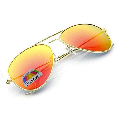 MFAZ Morefaz Ltd Kinder Junge Mädchen Sonnenbrille Gespiegelt Polarisiert Pilot Style Sunglasses (Orange Gespiegelt)