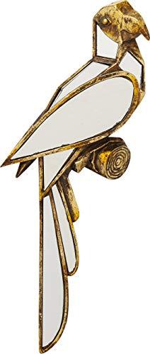 Kare Design Wandschmuck Parrot Mirror, Deko Vogel in der Farbe Gold, verspiegelt, geometrische Form, verschiedene Ausführungen erhältich (H/B/T) 43 15 3,2