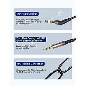 Mr Rex 3.5mm to 2.5mm Aux Cable Cord for Bose 700 QuietComfort QC35II QC35 QC25 Noise Cancelling Headphones, JBL E45BT E55BT E65BTNC Bluetooth Earphone, Audio Replacement Wire (1-Pack, 6.5FT)