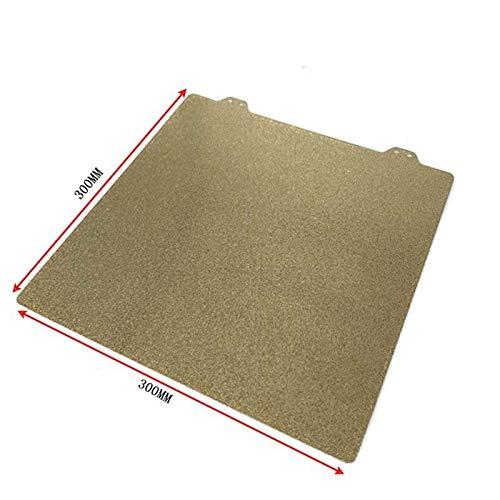 XBaofu 1pc Körperbau Oberflächenplattenwärmebett for Creality Ender-3 3D-Drucker for I3 Mega CR-10 Anet A8 A6 3D-Druckerzubehör (Farbe : Gold, Größe : 300x300mm)