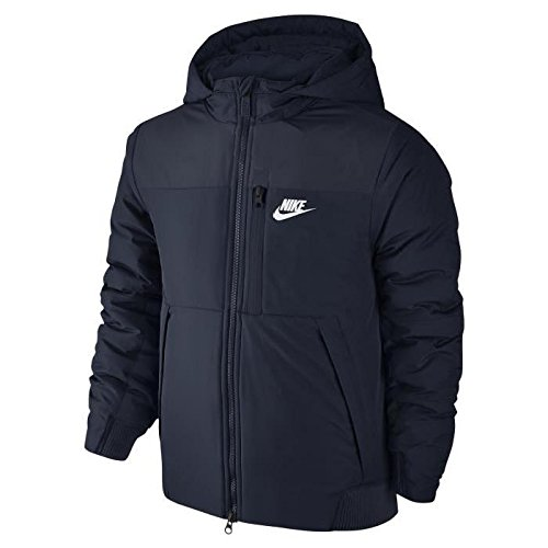 Nike - B NSW JKT Core Padded-Mid - Veste - Bleu - M - Garçon