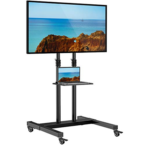 Mobile TV Cart with Wheels for up to 60