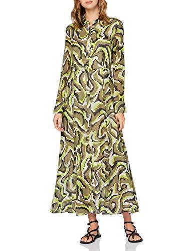 Daniel Hechter Damen Blouse Dress Kleid, Braun (Hazelnut 440), (Herstellergröße: 38)