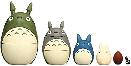 SQX My Neighbor Totoro - Figura de muñeca de anidación, anime japonés Miyazaki, para regalo infantil, decoración del hogar y jardín (color : A)
