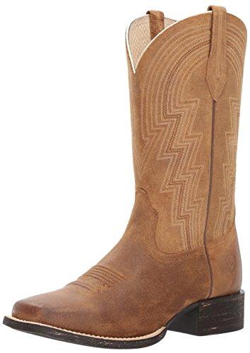 Ariat Women's Round up Waylon Work Boot, Old West Tan, 11 B US