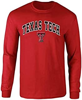 NCAA Texas Tech Red Raiders Male Long Sleeve Shirt Team Color Arch, Red, Small