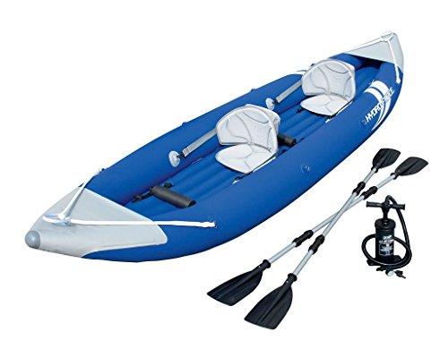 Bestway Bolt X2dos persona kayak barco balsa inflable con bomba y remos de aluminio 2