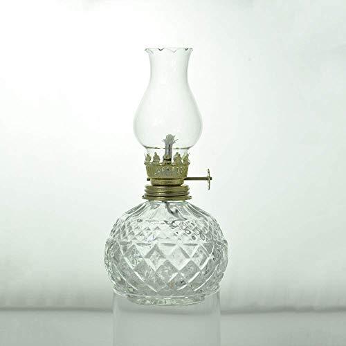 LEIKAS Lámpara Queroseno Linterna Lámparas Aceite clásicas Antiguas y nostálgicas con Pantalla Cristal, Lámpara cabecera Dormitorio para el hogar Lámpara Alta Capacidad para Corte energía Lámpara