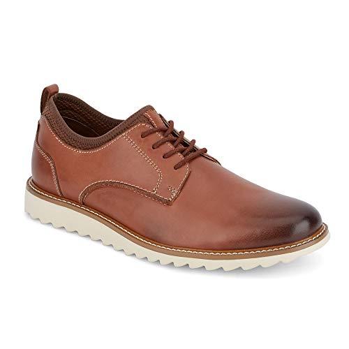 Dockers Mens Elon Leather Smart Series Dress Casual Oxford Shoe, Tan, 10 M