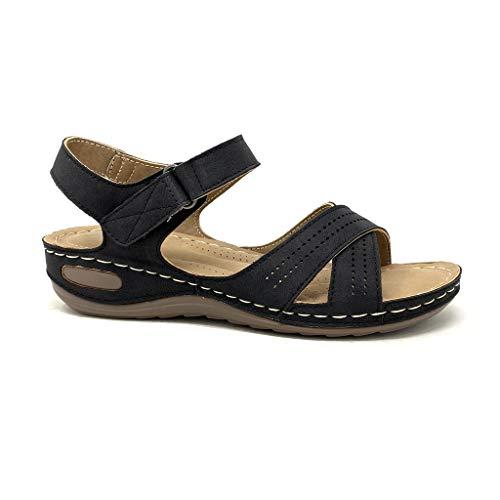 Angkorly - Chaussure Mode Sandale Style orthopédique Senior...