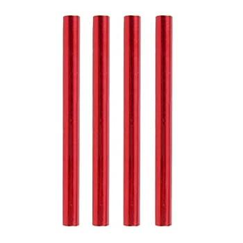 Azarxis Kit de Réparation de Poteau de Tente 4 ou 10 Pièces Tube de Réparation Accessoires de Camping Tube de Rechange pour Diamètre de 7,9 à 8,5 mm (Rouge - 4 Pièces)