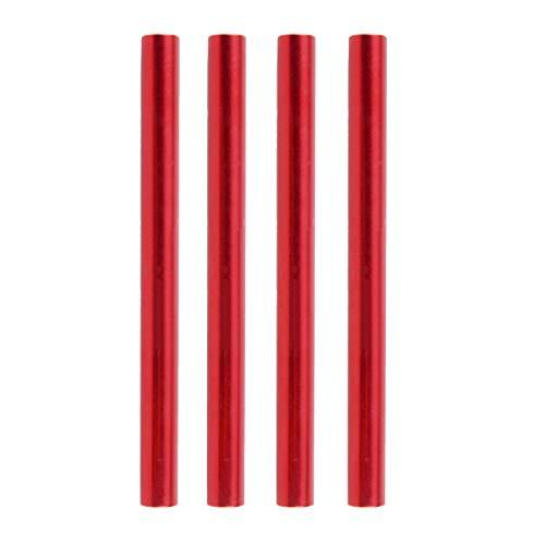 TRIWONDER Tent Pole Repair Splint Repair Kit Tubo de reparación de Repuesto para el diámetro 7,9-8,5 mm (Rojo - Paquete de 4)