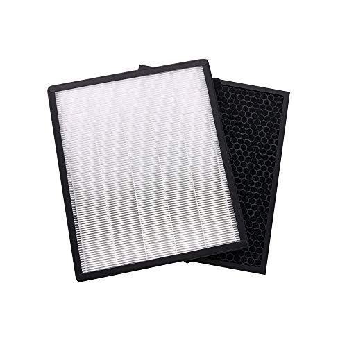 Air Purifier Replacement Filters Compatible with Levoit LV-PUR131, True HEPA & Activated Carbon Filters Set