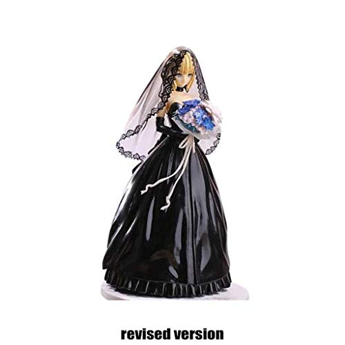 Ruyifang Fate Figurine [PVC] Saber Zwart (Wijde Jurk Versie) Saber Action Figuur Ongeveer 9.84 Inch Hoog