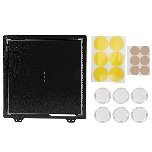 PEI Spring Steel Sheet Powder Coated Plate with 6Pcs Magnetic Stickers for Prusa Anet CR-20