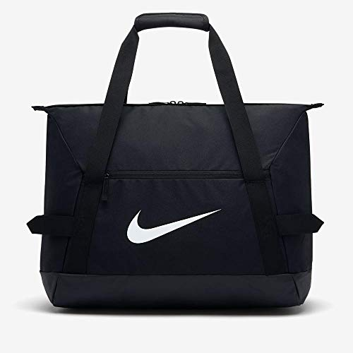 Nike NK ACDMY Team M DUFF Gym Duffel Bag, Black/Black/(White), MISC