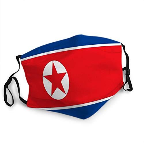 Herbruikbare gezichtshuid mond Noord-Koreaanse vlag