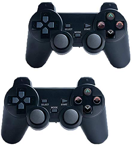 Wireless Controller for PS2 Playstation 2 Dual Shock(Pack of 2,Black)