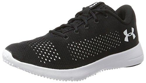 Under Armour Rapid, Zapatillas de Running Mujer, Negro (Black/White/White 001), 40 EU