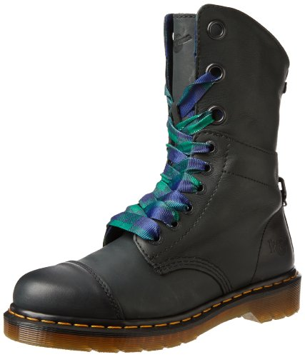 Hot Sale Dr. Martens Women's Aimilie Boot,Black Darkened Mirage,4 UK/6 M US