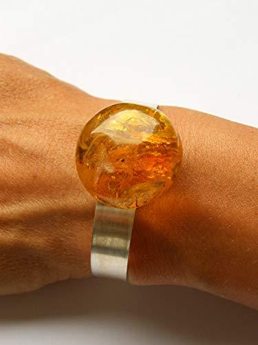 Armband Bernstein armband COGNAC GOLD Silber 925 NEU- UNIKAT 7142