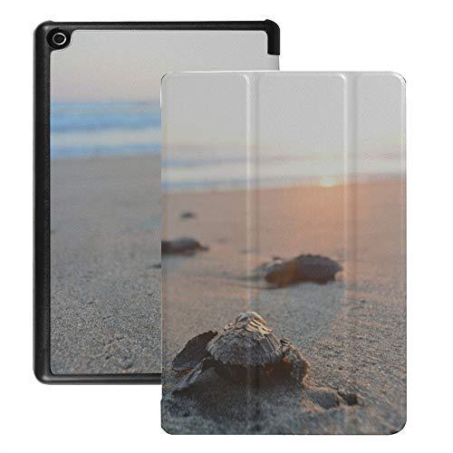 Custodia per Fire Hd 8 Tablet in via di estinzione Marine Sea Turtle Custodia Kindle Fire 8 Hd (versione 2018 2017 2016, ottava/settima/sesta generazione) con riattivazione/sonno automatici
