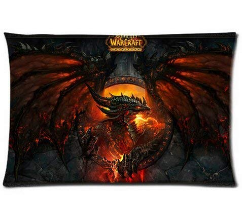 From World of Warcraft Pillowcases Custom Cool Comfortable Pillow Case Kissenbezüge (40cmx60cm)