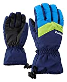 Ziener Kinder LETT AS glove junior Ski-Handschuhe / Wintersport | wasserdicht, atmungsaktiv, blau (navy), 3