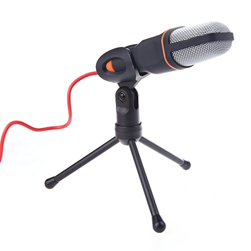 Docooler Microfone Condensador com Fio - Preto