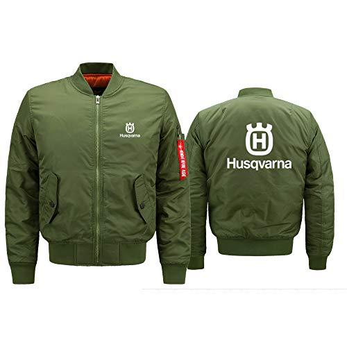 Blue-sky Vuelo Chaqueta Hus_Qv-Ar_Na Impresión Hombre Y Mujer Prueba de Viento Cárdigan Casual Air Force One Sweatshirt Clásico/Green/XXXL
